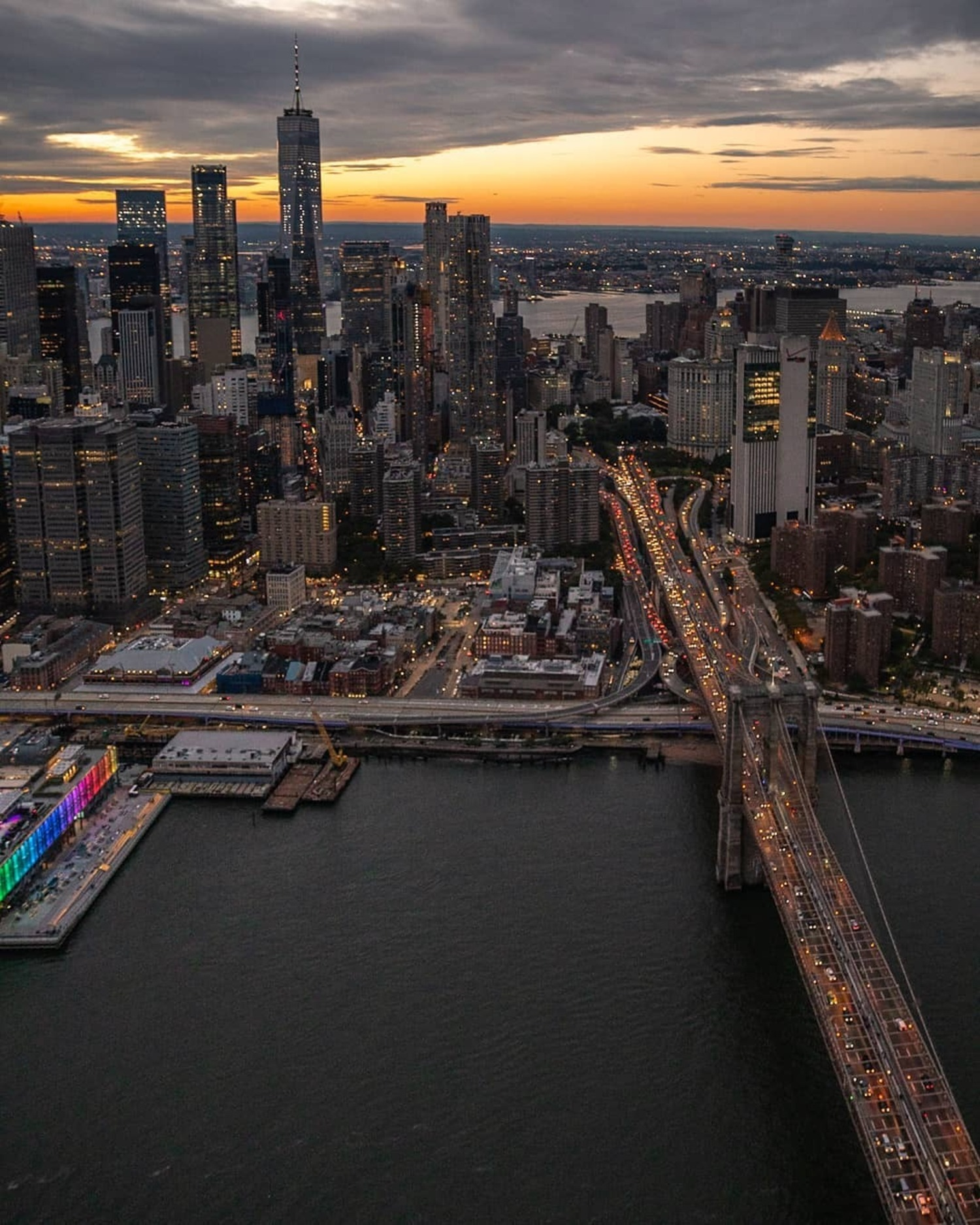 Lower Manhattan from Above East River