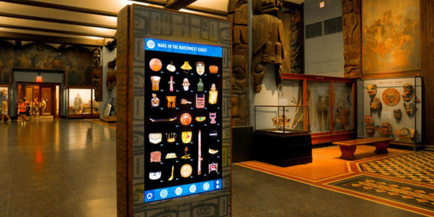 The American Natural History Museum's Digital Totem is a touch screen exhibit showcasing contemporary cultures in a new way.