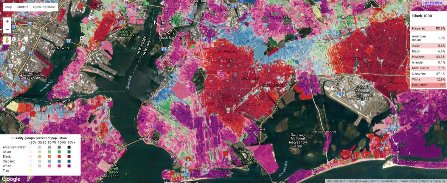 Brooklyn Ethnic Density Map