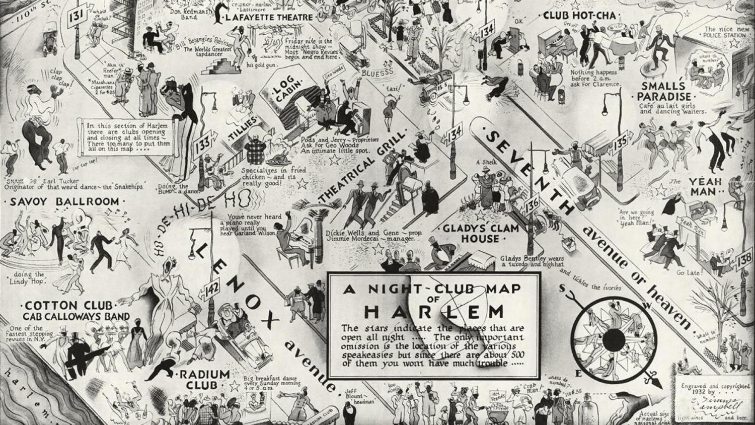 Harlem nights, An annotated map of the hippest, hottest nightspots in uptown jazz-age New York