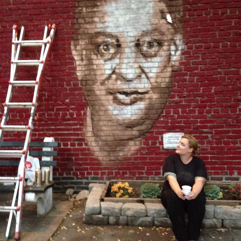 Yep! #rodneydangerfield #kewgardens #streetart #murals #literarypaintings @literarypaintings @501seestreets @ny1