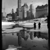 New York City view from Central Park in the Winter, 1933