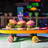 Founded in Mexico in 1969, Señor Frog's thrives in Caribbean beach towns and caters to college students on spring break who will fake orgasms on stage to win free margaritas. Here, cheeseburger sliders.