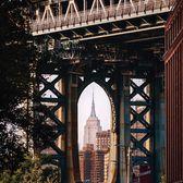 Empire State Building under the Manhattan Bridge, DUMBO, Brooklyn
