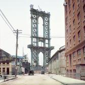 View of The Manhattan Bridge Under Construction from Washington Street Brooklin/New York - February 21, 1908