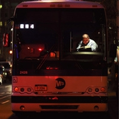 Bus driver, Tribeca, Jan. 7, 2013.