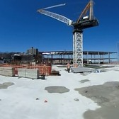 See a 360 view of Empire Outlets construction site