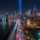 Tribute in Light, Lower Manhattan