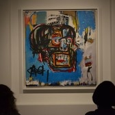 Untitled, 1982 by Jean-Michel Basquiat, American, 1960-1988, acrylic, spray paint and oilstick on canvas, 72 1/8 x 68 1/8 in., on view at the Brooklyn Museum