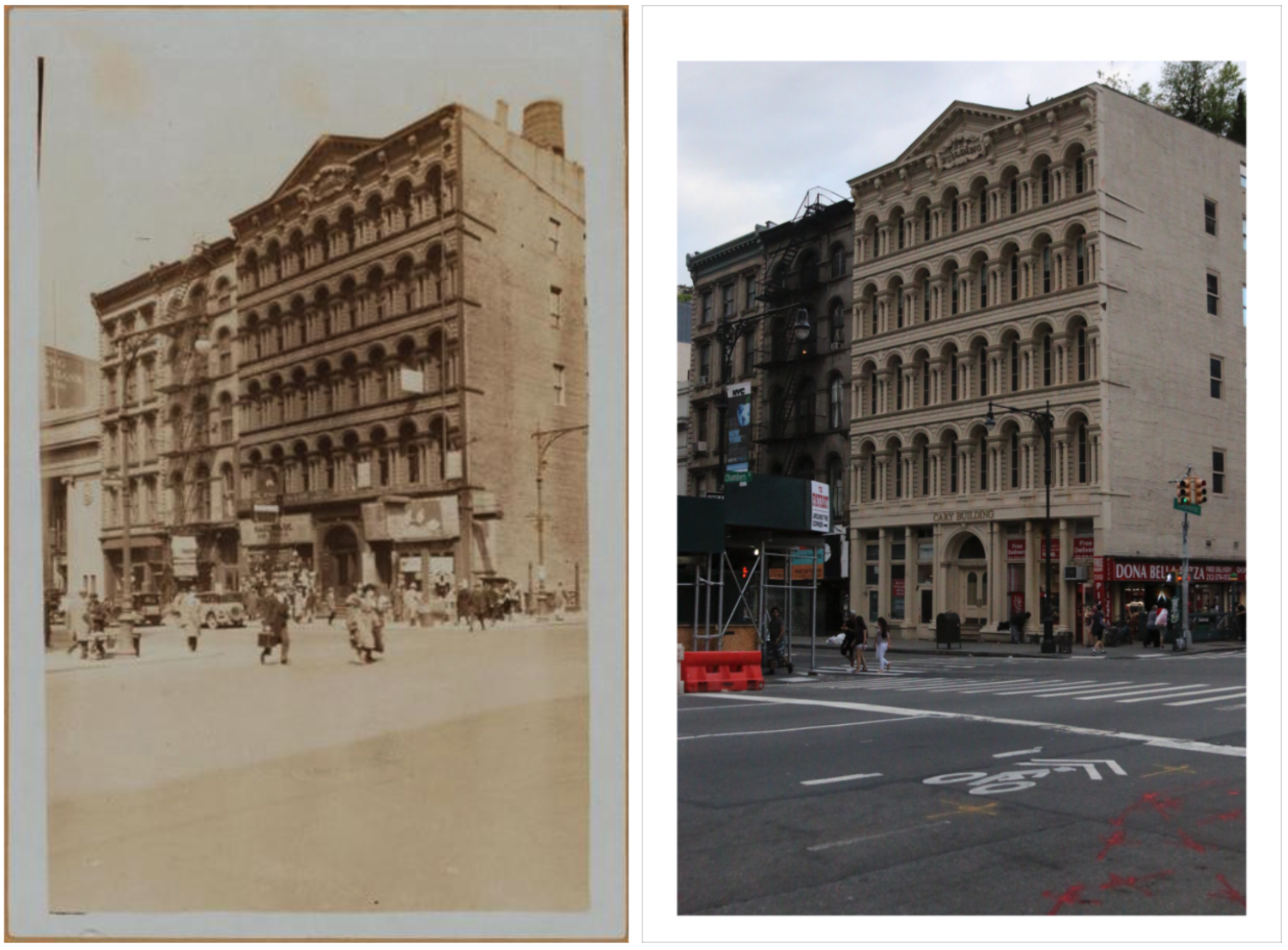 107–101 Chambers street, the NW corner of Church st.(P.L. Sperr, 1931). April 3, 1931 // July 4, 2017