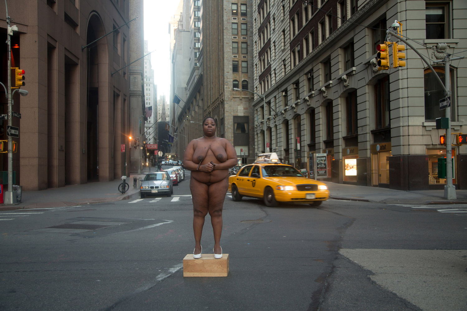 """From Her Body Sprang Their Greatest Wealth"" 2013 — Site of Colonial Slave Market, Wall Street"