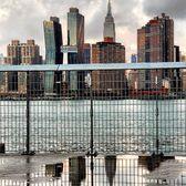 New York, New York. Photo via @qwqw7575 #viewingnyc #newyorkcity #newyork #nyc #eastriver #skyline #reflection #empirestatebuilding #americancopperbuildings
