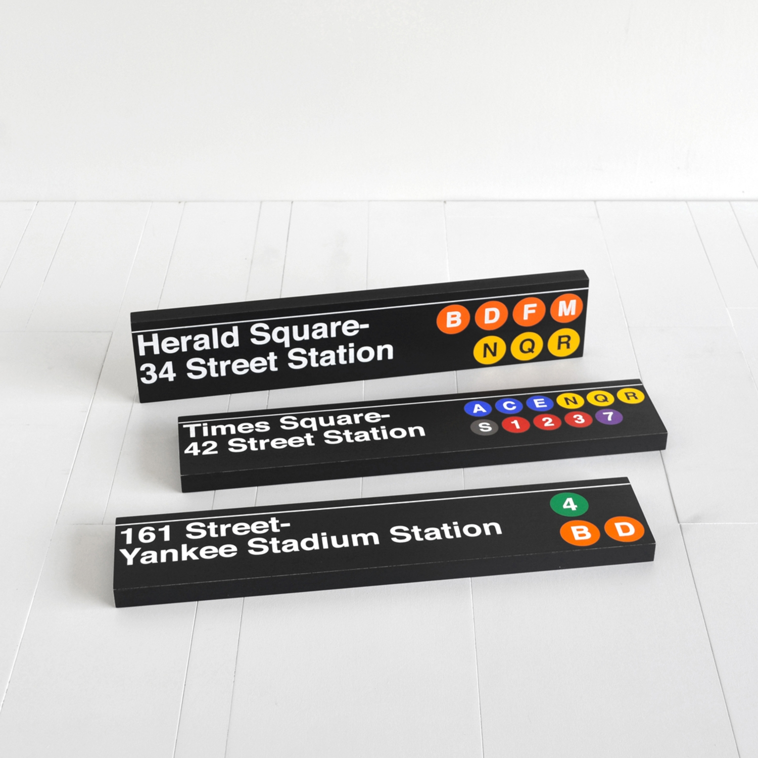 Sideway Signs - High-quality New York City subway signs officially licensed by the MTA.
