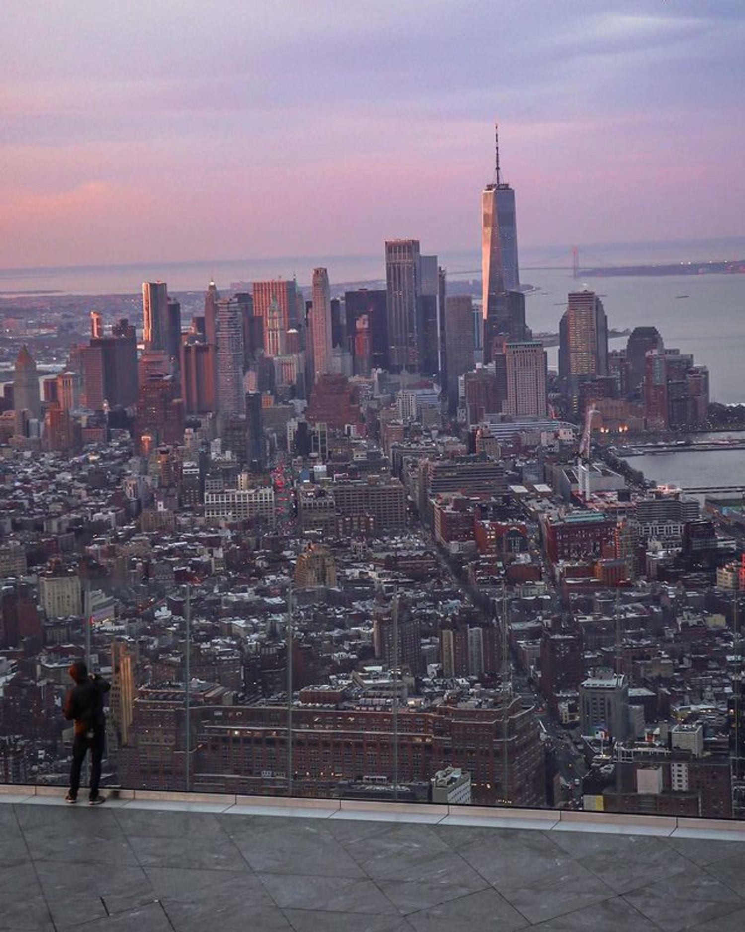 Sunset over Lower Manhattan from The Edge, Hudson Yards, Manhattan