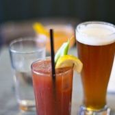"ACME (Brunch) - drinks | Fair Lady (aperol, gin, lemon, st germain, honey, orange bitters, champagn"", Bloody Mary, IPA chaser"