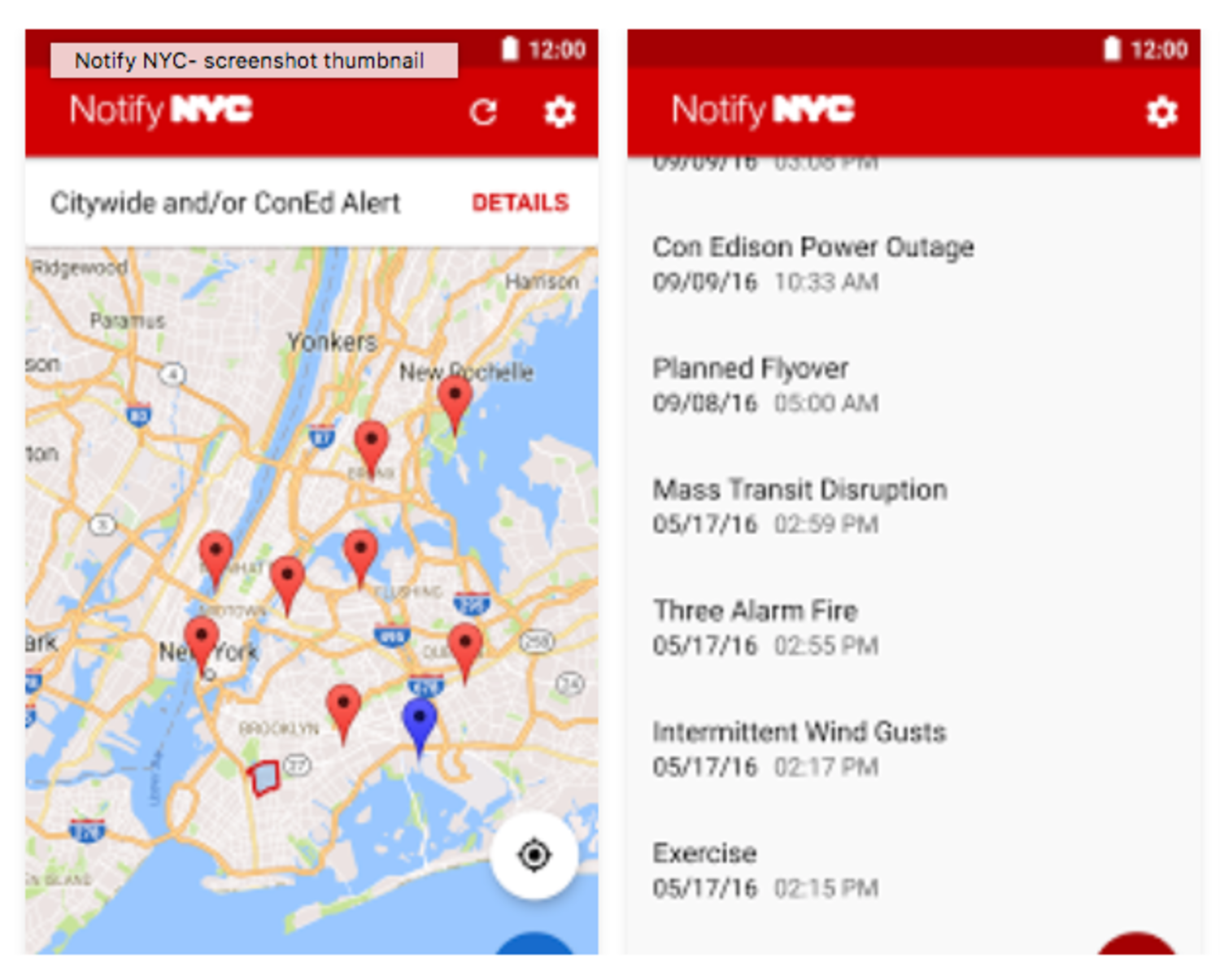 NotifyNYC Android App