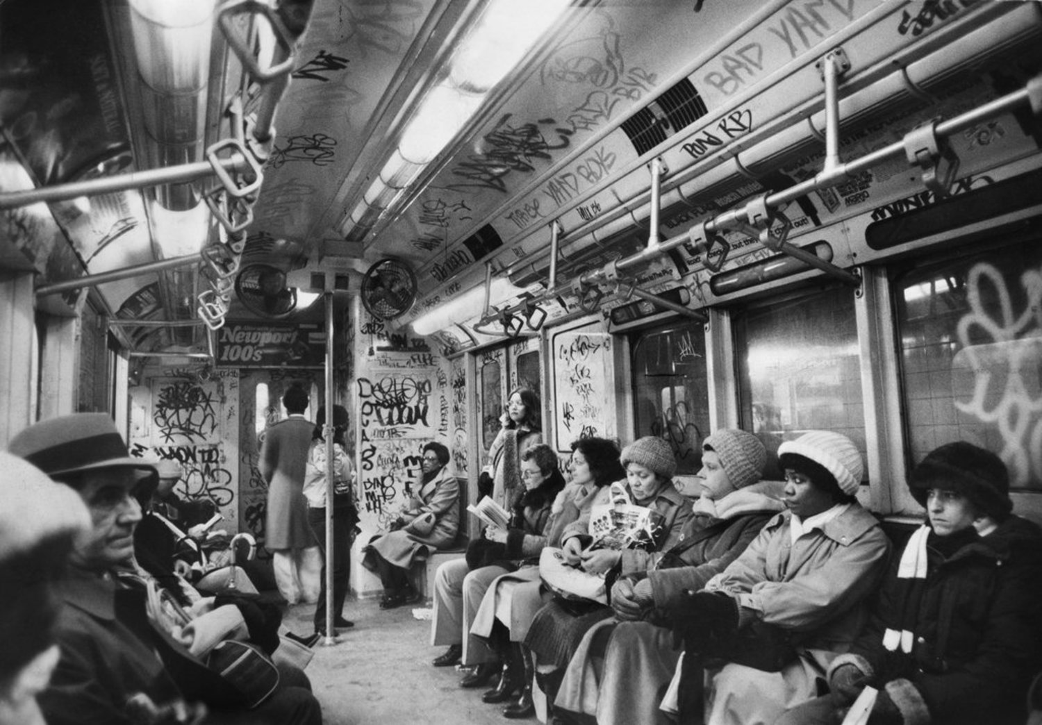 "March 5, 1981: Passengers on the New York subway, which was projecting a $369 million deficit that year. A brief story in The Times explained that a tax on oil companies passed by New York lawmakers was intended to narrow that deficit, but that a Federal appeals court effectively abolished the tax, ""which had been counted on to produce more than $235 million a year, most of it earmarked for the cash-starved Metropolitan Transportation Authority."""