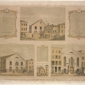An 1844 lithograph from the John Street Church