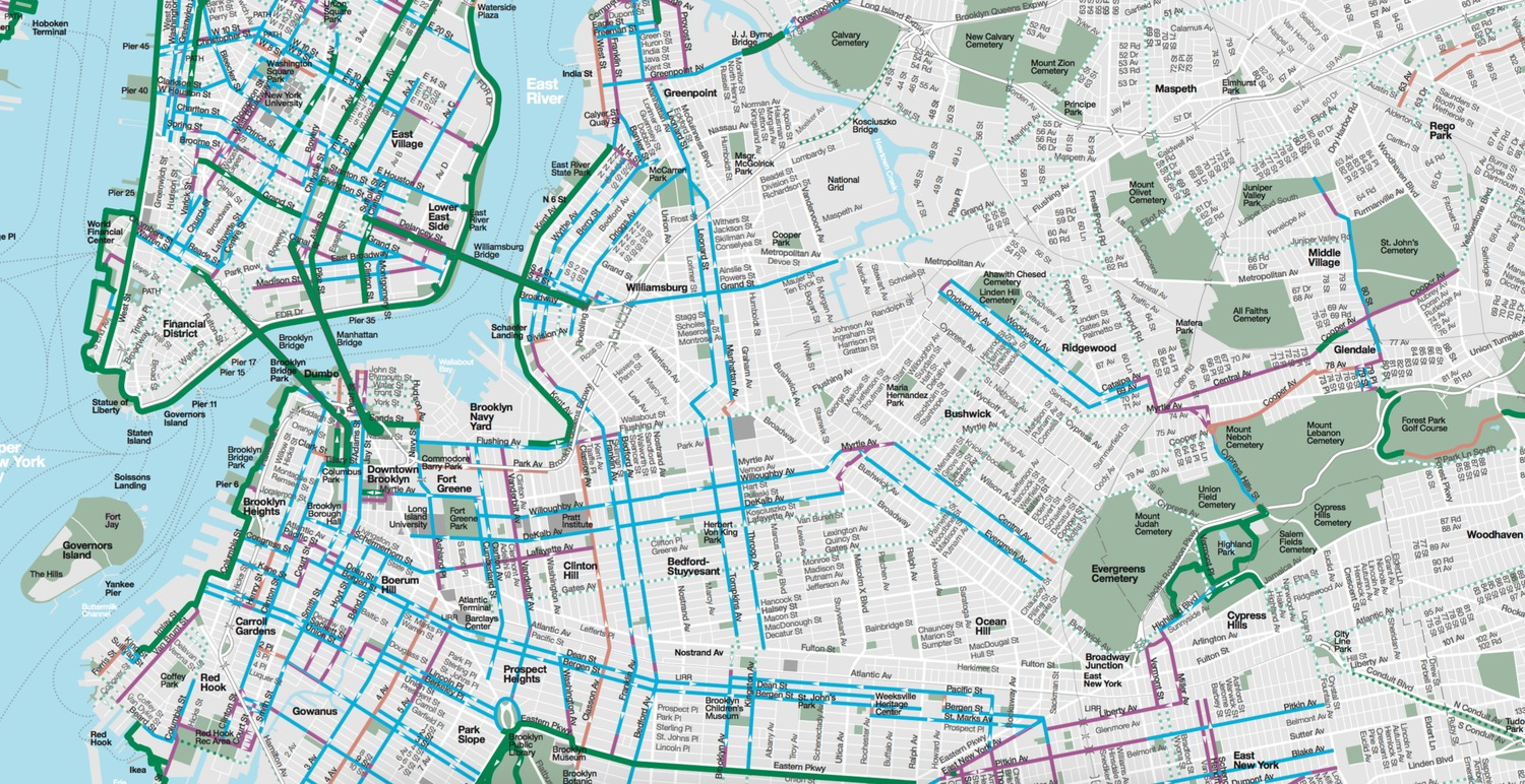 Department of Transportation\'s 2016 New York City Bike Map Available ...