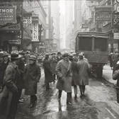 Nassau Street, looking south from Fulton Street, on March 3, 1926, New York City