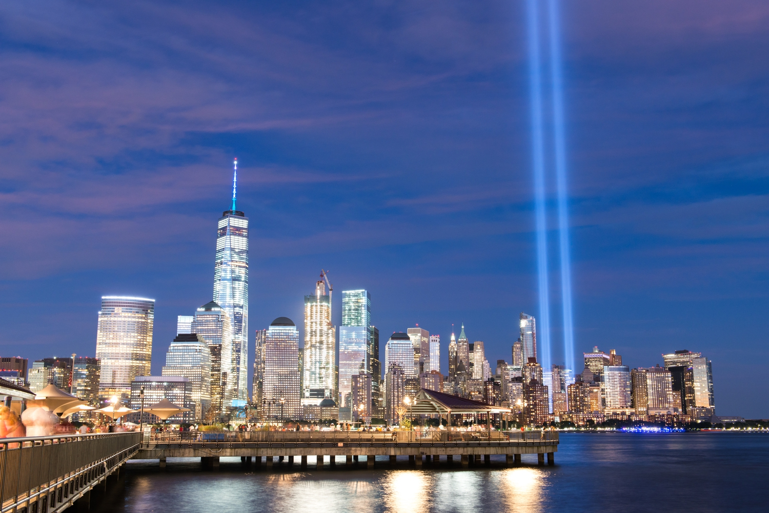 2016 9/11 Memorial Lights | The 9/11 Memorial Lights, as viewed from Jersey City
