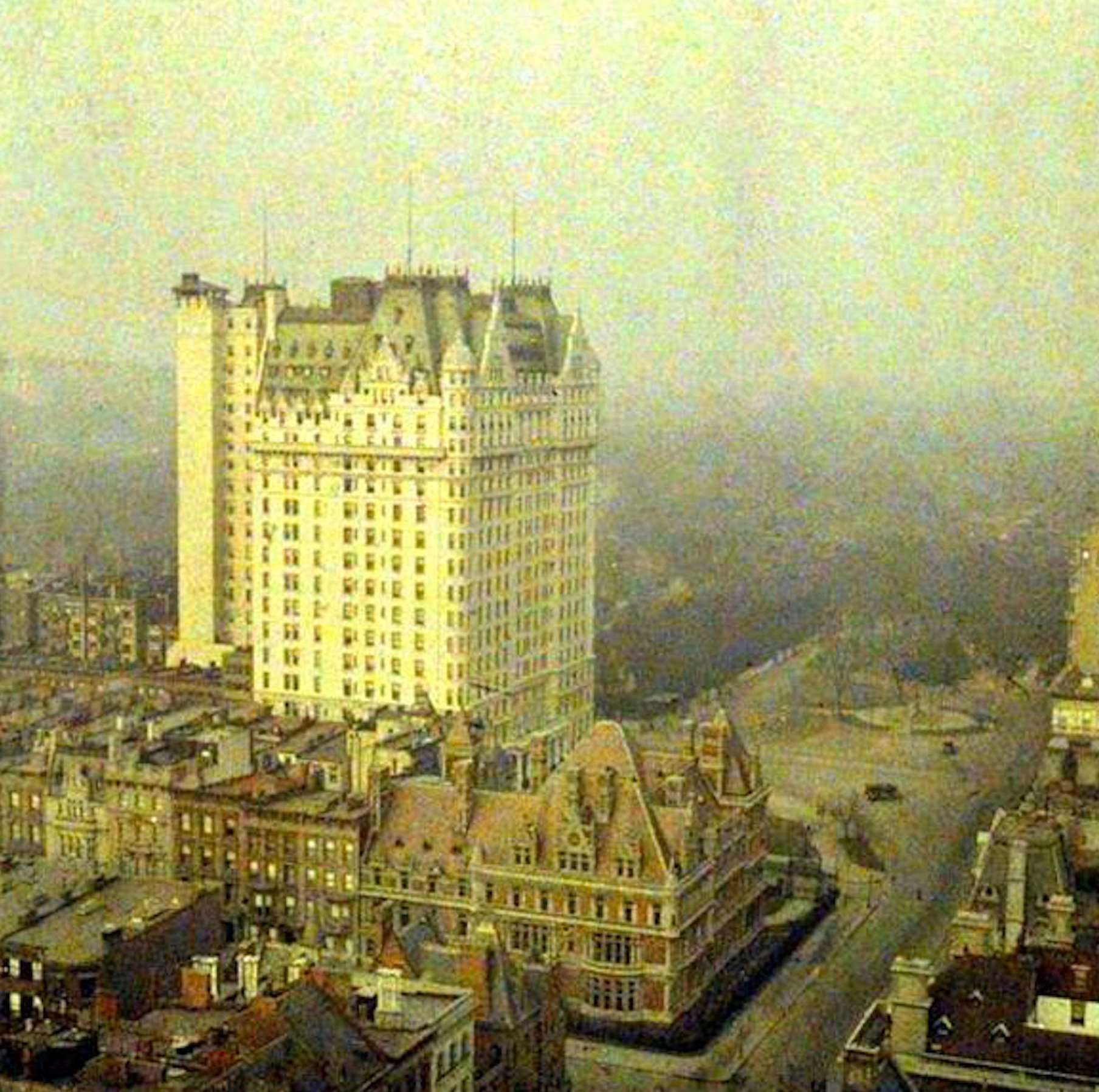 18 And Older Hotels In New York: Vintage Colorized Photograph Shows Plaza Hotel, Vanderbilt