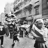 "Feb. 17, 1969: Celebrations on Mott Street to ring in 4667, the Year of the Rooster, favored the lion to the dragon, which, though ""there is a tremendous difference between a dragon and a lion in the Chinese tradition,"" The Times reported, the main difference to the casual observer ""is that dragons are about 30 feet long and require 17 men or boys to operate, while the lions are short and need only two men."" Indeed, ""to be chosen to play the head of a lion is, for a Chinese male interested in the martial arts, a matter of prestige."""