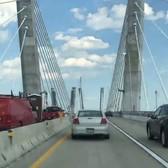 Crossing the new Goethals Bridge in 48 seconds