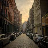 Sunset over Mercer Street, SoHo
