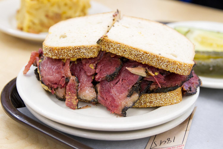 "Pastrami sandwich | <a href=""http://katzsdelicatessen.com/"" rel=""nofollow"">Katz's Delicatessen</a>  $16"