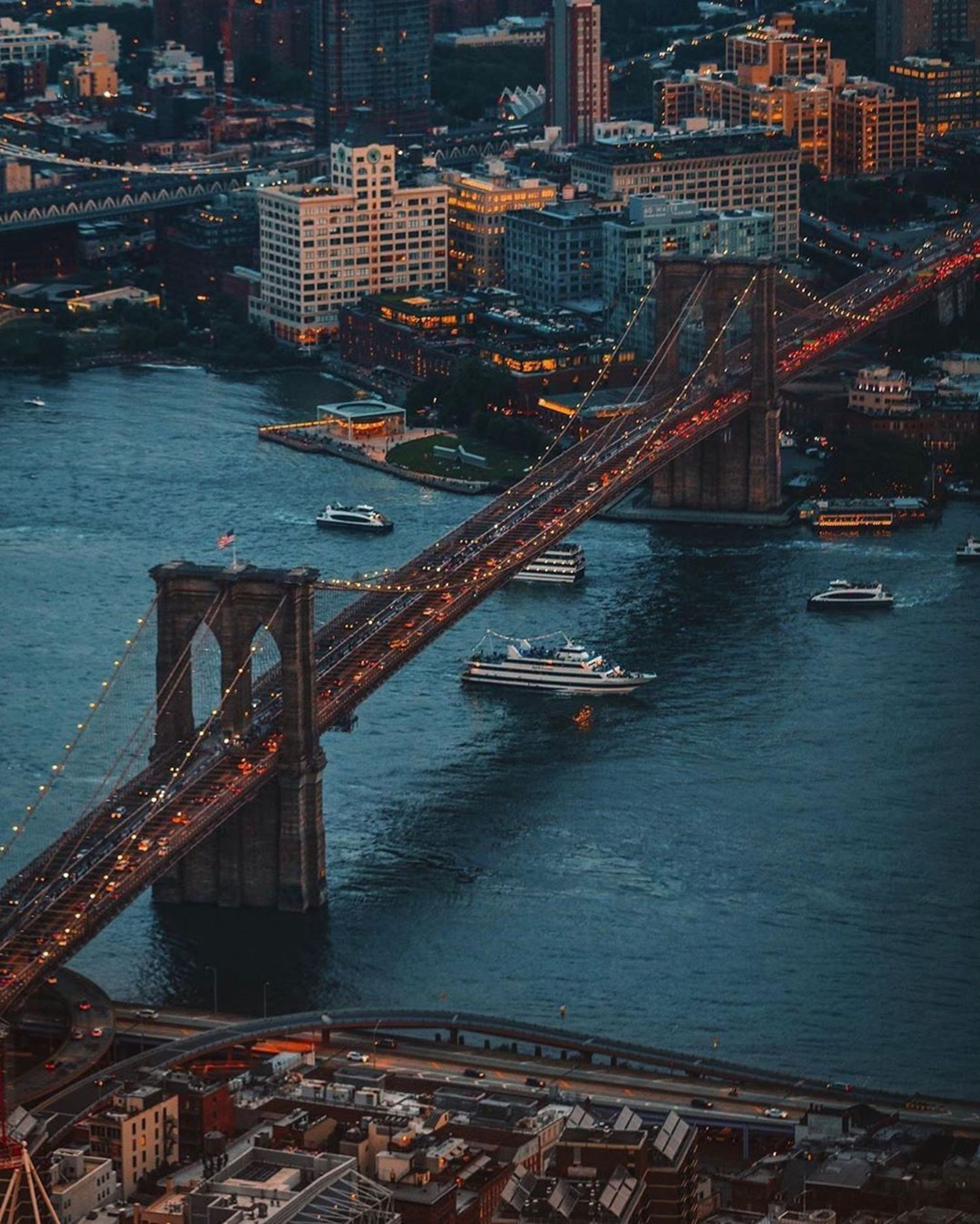 Brooklyn Bridge, New York, New York.