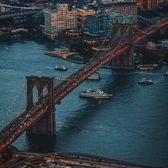 Brooklyn Bridge, New York, New York.