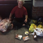 Mike Felber with his loot.