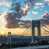 George Washington Bridge, New York. Photo via @newyorkcitykopp #viewingnyc #newyorkcity #newyork