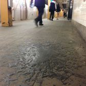 Gunk on a NYC subway platform.