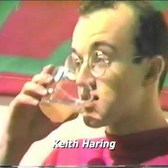 Keith Haring's New Year's Eve Party with his paintings and favorite music