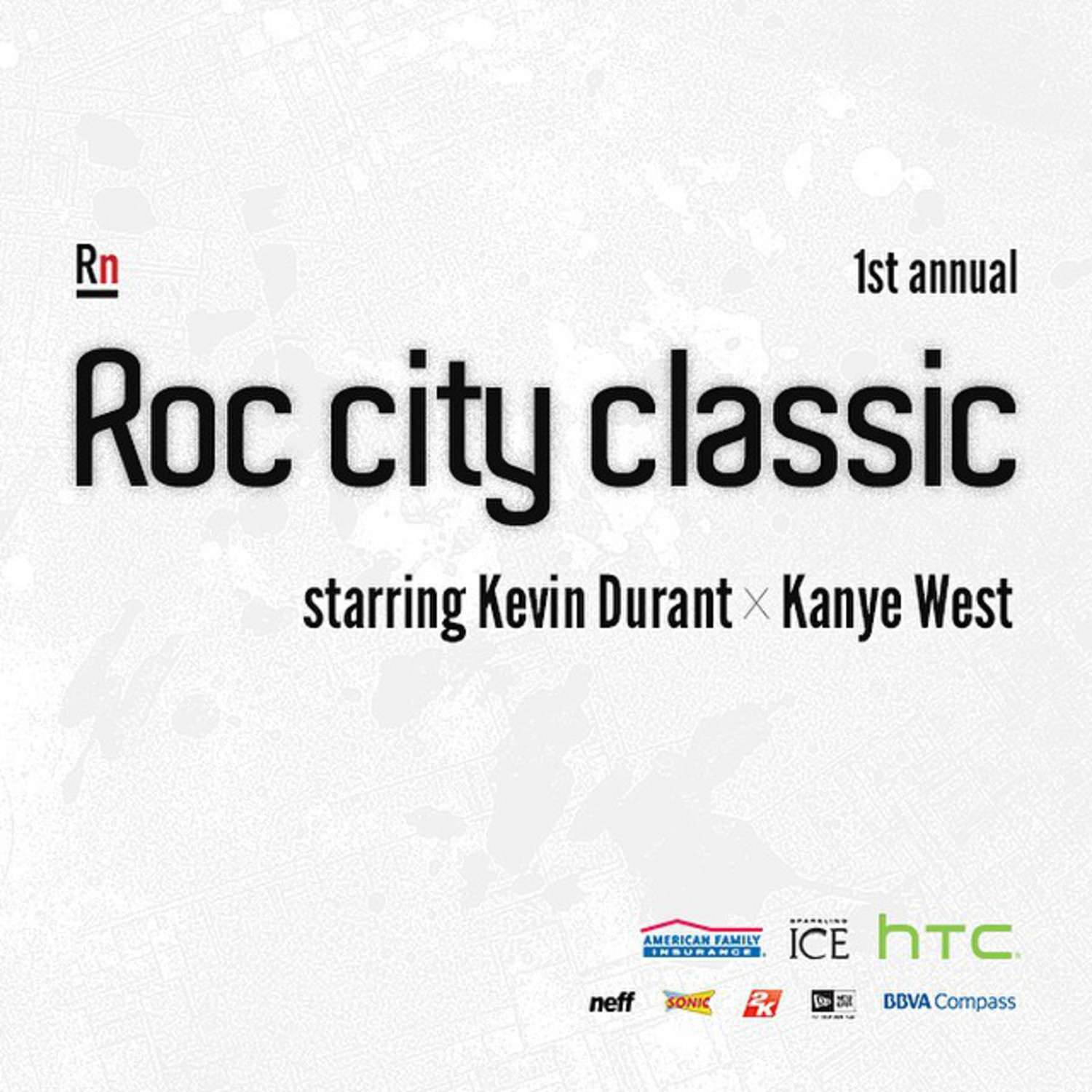 #Roccityclassic starring Kevin Durant @easymoneysniper x #KANYEWEST takes place in NYC on 2/12. Find out how to win tickets and more info at www.roccityclassic.com.