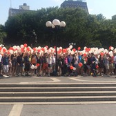 stephen colbert organizes forced celebration in union square
