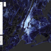 Strava running activity in New York City