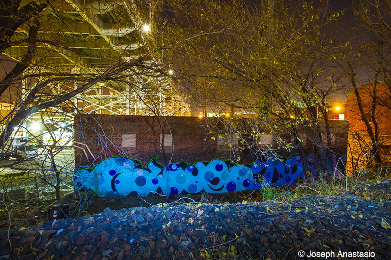 Serious graffiti art near 51st avenue – Looks to be the work of Dek and Glue