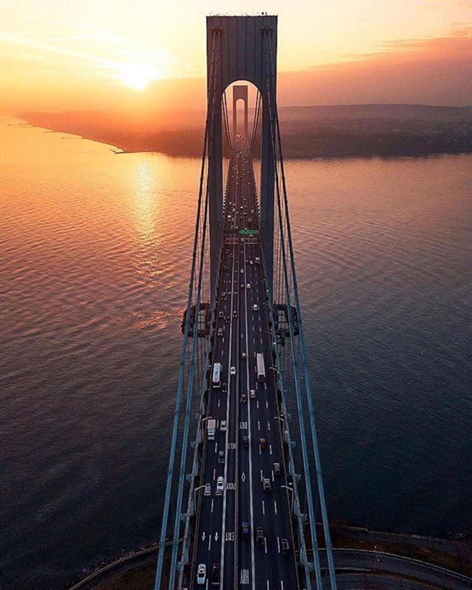 Verrazano Bridge, New York. Photo via @zura.nyc #viewingnyc #newyork #newyorkcity #nyc #verrazanobridge
