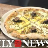 Oro Nero: A white pizza with gold and caviar pizza for $20