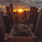 Sunset from the Helmsley Building, Midtown, Manhattan