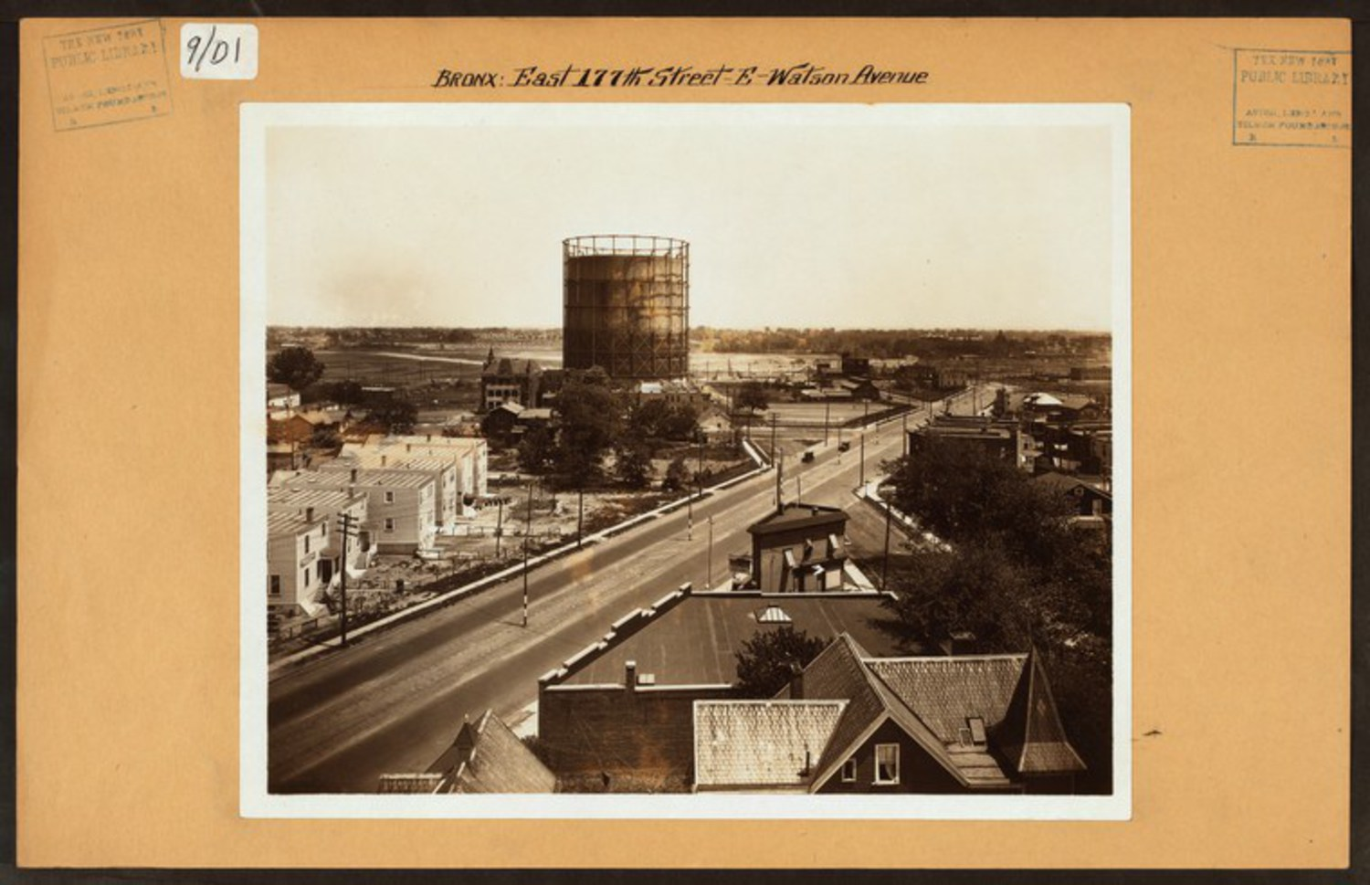 "The semi-rural neighborhood of Castle Hill at Watson Avenue and what would become the infamous Cross Bronx Expressway. (1926) Image Credit: Irma and Paul Milstein Division of United States History, Local History and Genealogy, The New York Public Library. ""Bronx: 177th Street (East) – Watson Avenue"" The New York Public Library Digital Collections. 1926."