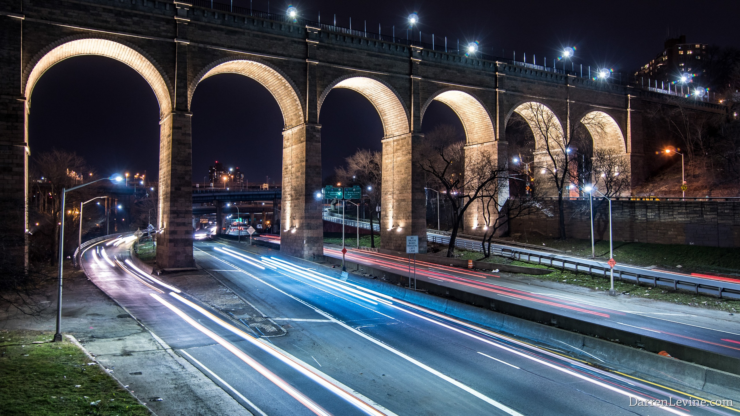 Beautiful Night Photograph Of The City S Oldest Bridge The Bronx Manhattan High Bridge