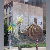 Snail Mural, Mike Makatron, Williamsburg, Brooklyn
