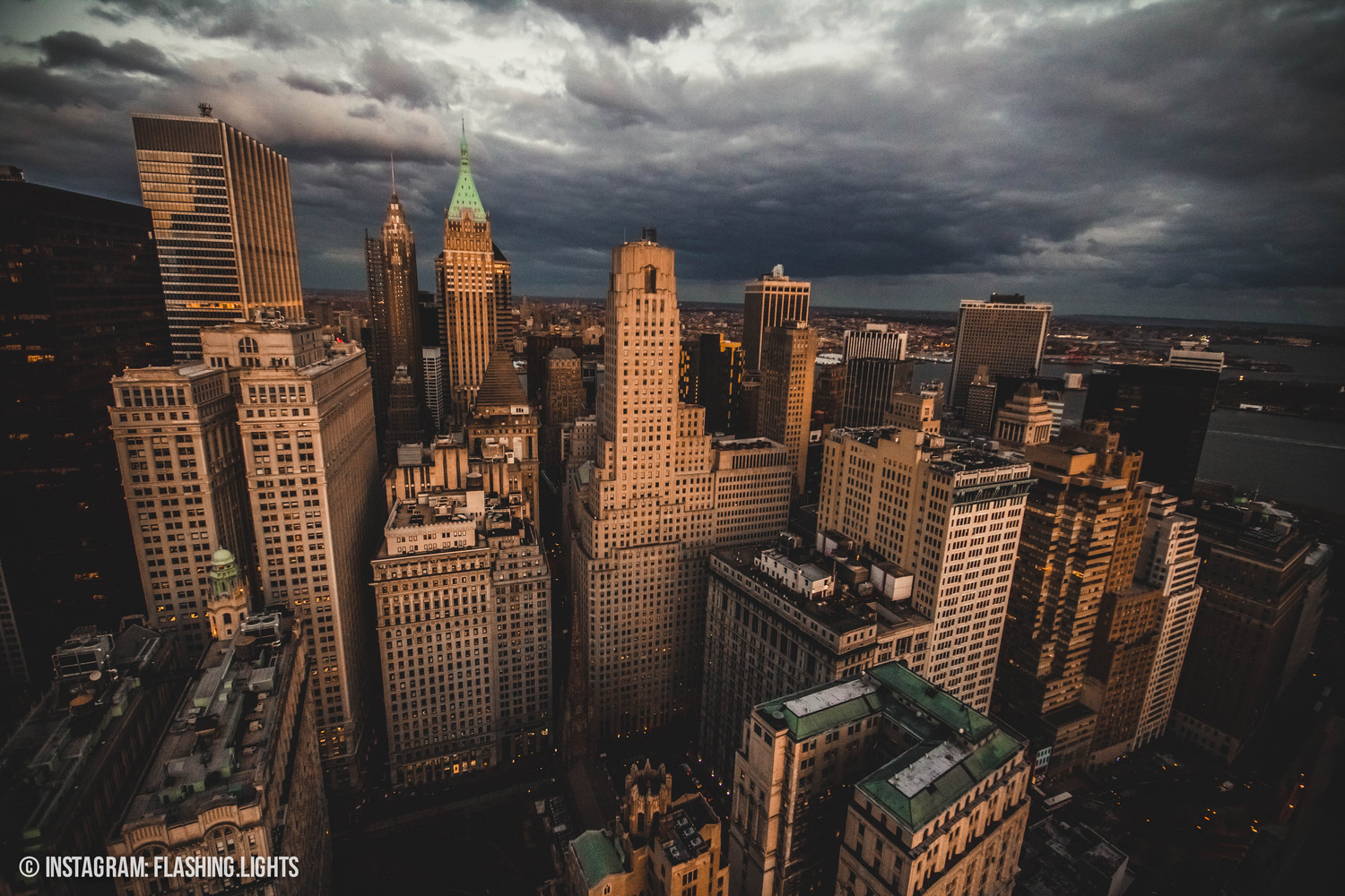 A storm is brewing over the financial district.