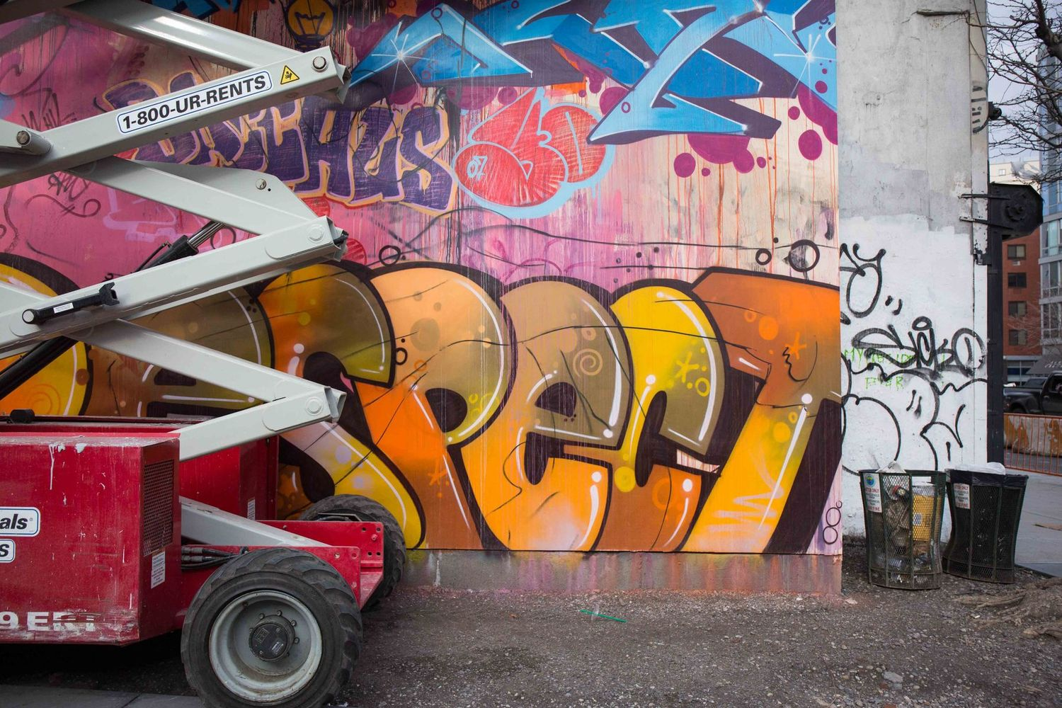Bowery Wall's newest mural by PichiAvo mixes colors and classicism