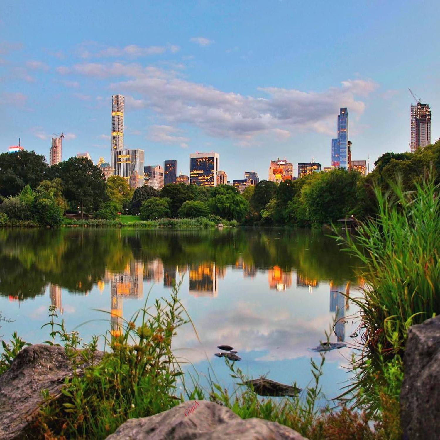 The Lake in Central Park, New York City