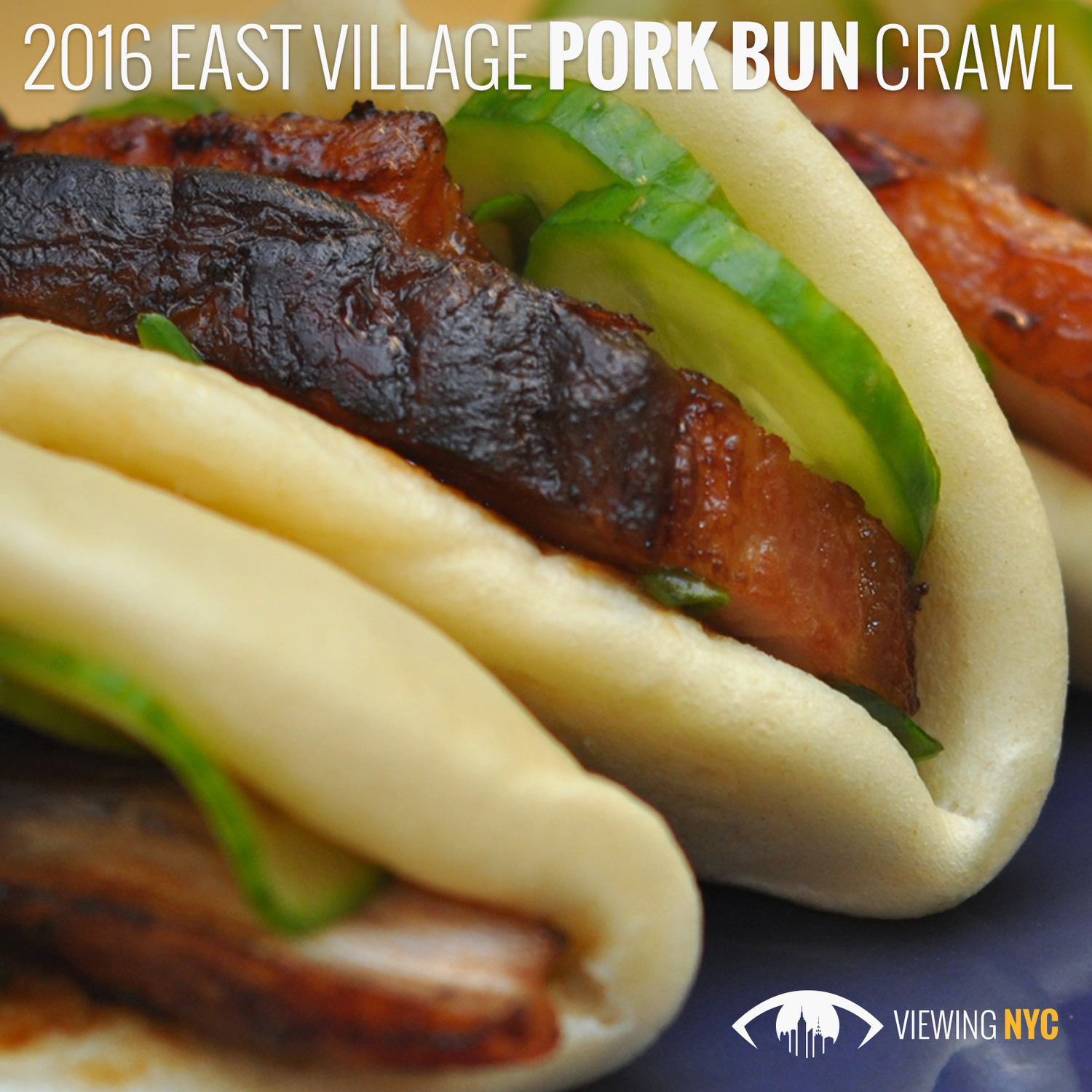2016 Viewing NYC East Village Pork Bun Crawl